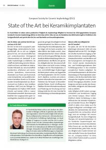 State of the art bei Keramikimplantaten